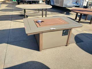 36x54 Rectangle Fire Pit Kona Patio Table