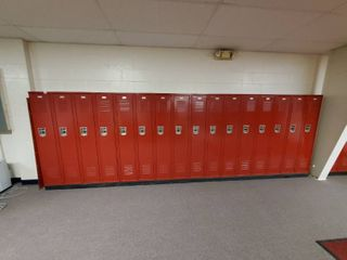 lot of 16 Metal Combination lockers  Made by Penco  Have Combinations to All