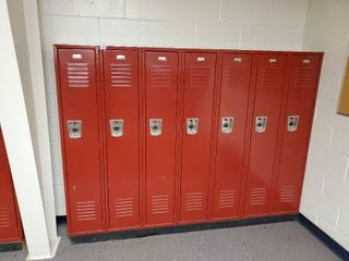 lot of 7 Metal Combination lockers  Made by Penco  Have Combinations to All