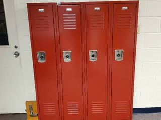 lot of 4 Metal Combination lockers  Made by Penco  Have Combinations to All