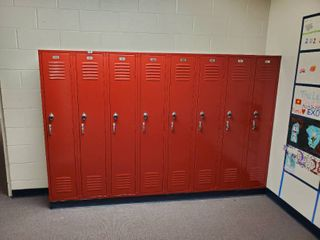 lot of 8 Metal Combination lockers  Made by Public Storage Systems  Have Combinations to All