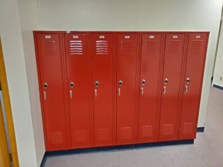 lot of 7 Metal Combination lockers  Made by Republic Storage Systems  Have Combinations to All