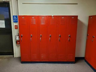 lot of 6 Metal Combination lockers  Made by Republic Storage Systems  Have Combinations to All