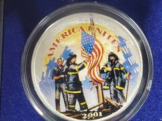 American Heroes Silver Dollar with Certificate of Authenticity