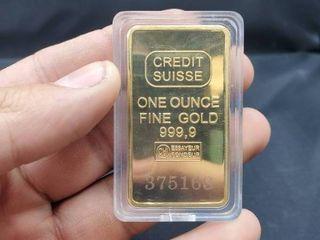 REPlICA  Credit Suisse One Ounce Fine old 999 9 Bar  REPlICA