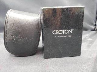 Croton Men s Black Band Wristwatch