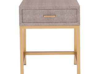 Durham Faux Shagreen 1 drawer End Table  Retail 135 49