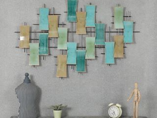 Metal Abstract Wall Decor  Retail 75 48