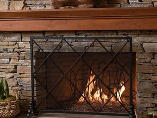 Howell Single Panel Fireplace Screen by Christopher Knight Home  Retail 146 99