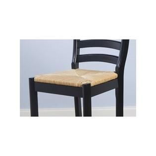 Simple living Parker 24 inch Black Wood Stool with Rush Seat  Retail 85 49