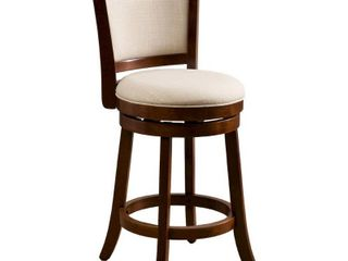 Mallik 37 inch Fabric Swivel Backed Counter Stool by Christopher Knight Home  Retail 139 99