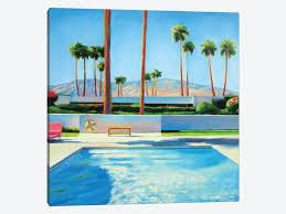 iCanvas  Palm Springs Pool  by Ieva Baklane  Retail 114 49