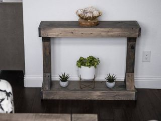 Barb Small Rustic Solid Wood Console Table by Del Hutson Designs   Retail 116 00