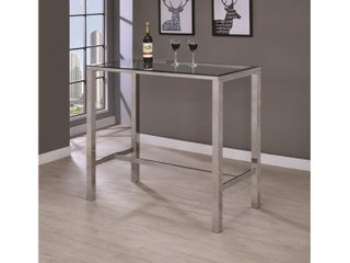 Contemporary Glass Bar Table   Retail 222 34