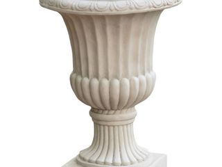 Antique White 26 inch Italian Urn Planter by Christopher Knight Home  Retail 99 99
