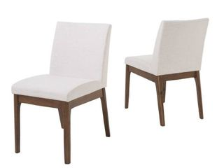 Kwame Mid century Fabric Dining Chair by Christopher Knight Home  Set of 2  Retail 194 49