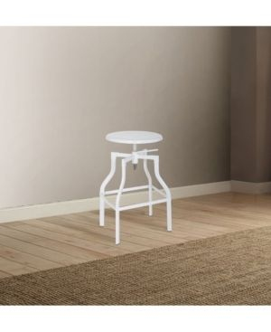 ACME Xena Adjustable Metal Stool with Swivel  White