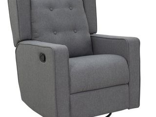 HomCom Polyester linen Fabric Swivel Recliner Chair  Retail 329 49