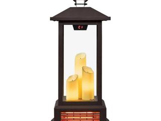 duraflame 28 Electric lantern with Infrared Heat and Remote Control Black  Retail 192 49