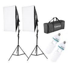 5500K Photo Studio Video Photographic Soft light Box Set with 2 135W Bulbs