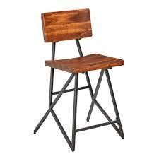 Carbon loft Hader Reclaimed Brown and Gunmetal Counter Stool  Retail 95 49