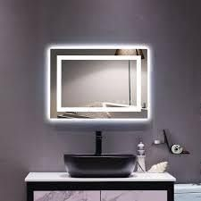 Zimtown Square Touch lED Bathroom Mirror Tricolor Dimming lights  Retail 147 49