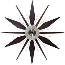 Utopia Starburst Mid Century Modern large 30 inch Wall Clock by Infinity Instruments  As Is Item