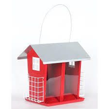 style selections metal feeder with suet cage red missing plastic
