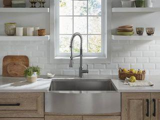 PROFlO Sault 33  Farmhouse Single Basin Stainless Steel Kitchen Sink  Retail   579 00