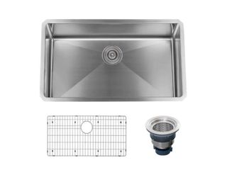 Miseno 30 in x 18 in Stainless Steel Single Bowl Kitchen Sink   Accessories  Retail