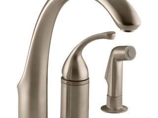 KOHlER Forte Vibrant Brushed Bronze 1 Handle High Arc Kitchen Faucet with Side Spray  Retail  496 90