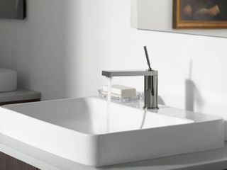 Kohler Voxr Rectangle Vessel Sink with Faucet Deck  White  Retail  324 99