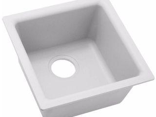 Elkay Quartz Classic Single Bowl Dual Mount Bar Sink in White  Retail   366 00
