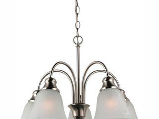 Sea Gull Windgate 5 light 20 in Brushed Nickel Chandelier Ceiling light in Fluorescent  Retail   282 00