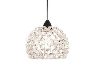 Gia Eternity Jewelry Collection lED Pendant in White Diamond Chrome  Retail  399 per pendant