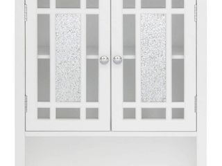 Elegant Home Fashions Windsor 22 in W x 24 in H x 7 in D White Bathroom Wall Cabinet