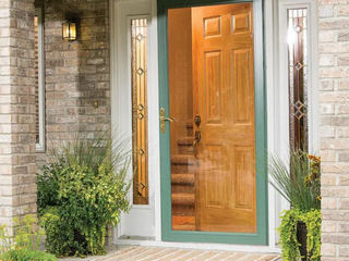 Pella Select 36 in x 81 in Hartford Green Full View Aluminum Storm Door