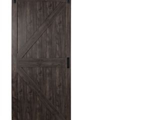 Reliabilt Iron Age Prefinished MDF Barn Door with Hardware Kit  Common  36 in X 84 in  Actual  36 in x 84 in