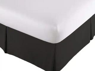 Porch  amp  Den Split Corner BedSkirt  Bed Skirt In Ultra Soft Microfiber   Queen