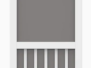 Faux Wood Screen Door 32in x 80in White