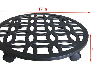 Iron Plant Caddy No Casters Set of 3