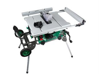 Metabo hpt C10rjsm 15 amp 10in Jobsite Table Saw W fold And Roll Stand