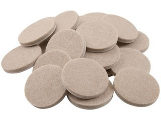 1 1 2in Oatmeal Round Self Stick Felt Pads  24 Count