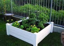 Vinyl Raised Garden Bed Kit  18 Rails and 4 post