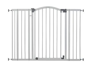 Summer Extra Tall   Wide Safety Baby Gate  Cool Gray Metal Frame 38  Tall  Fits Openings 29 5  to 53  Wide   Baby and Pet Gate for Extra Wide Doorways  Stairs  and Wide Spaces