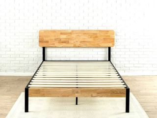 Zinus Tuscan Metal   Wood Platform Bed With Wood Slat Support  Twin