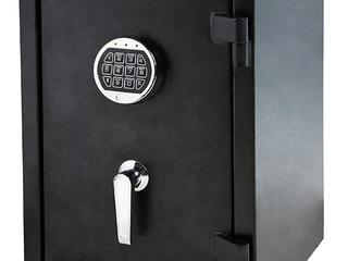 AmazonBasics Fire Resistant Box Safe with Keypad  1 24 Cubic Feet