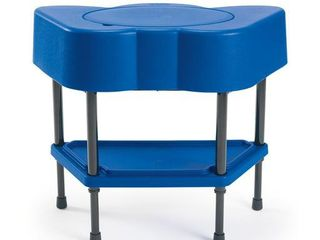 Children s Factory Angeles Toddler Sensory Table with lid  Adjustable Height Sand   Water Indoor Outdoor Play Equipment   Blue