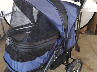 Pet Gear No zip 3 Wheel Jogger Pet Stroller   Blue
