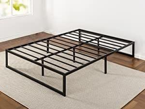 Zinus Abel 14 Inch Metal Platform Bed Frame  Mattress Foundation   No Box Spring Needed  Steel Slat Support   Easy Quick lock Assembly